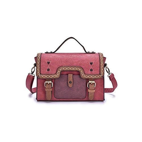 AJLBT Sra. Bolsa De Hombro De Tendencia Coreana Messenger Bag Moda PU Bolso Red