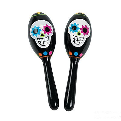 Day Of The Dead Maracas : package of 12 Oriental Trading Company