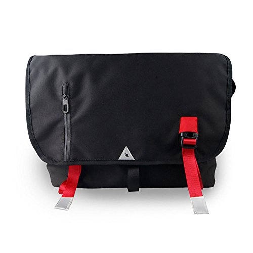 Price comparison product image GoFar Bike Messenger Bag Large Nylon School Shoulder Courier Bag Fits 15.6 Inch Laptop