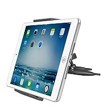 "Universal Tablet Car Mount, APPS2CAR Cd Slot Holder Stand for Ipad 2 3 4/Air 1 2/Mini 1 2 3 4, Samsung Tab S A 4 3, Kindle Fire 8"" 7"" 6"" HD Nokia N1, Sony LG Tablet, Sat Nav, GPS, iPhone 6S 6 5S 5,etc"