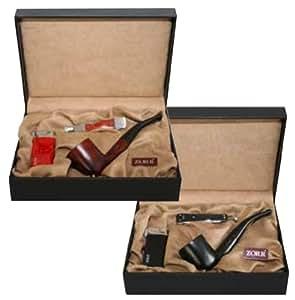 Zorr Luxus juego para fumador en paquete de regalo Negro