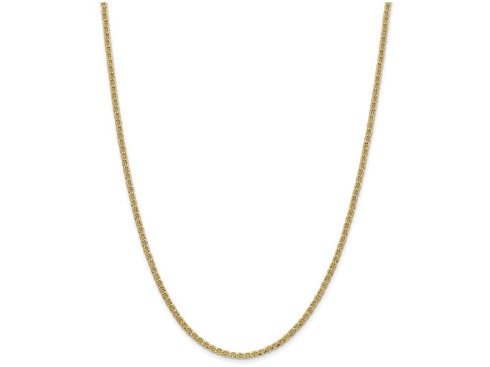 Finejewelers 24 Inch 14k Yellow Gold 2.40mm Anchor Chain Necklace