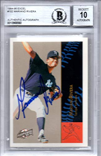Mariano Rivera New York Yankees 1994-95 Fleer Excel Signed Card Beckett BGS 10 ()
