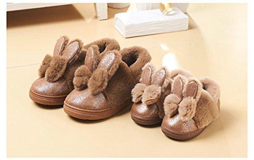 ALUK-Lovely bow nœud coton pantoufles enfants chaleureux accueil enfant - chaussures en coton amicale