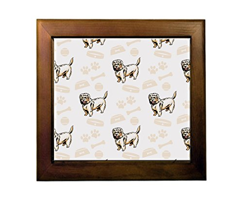 Price comparison product image Dutch Smoushond Dog Bone Bowl Collar Ceramic Tile Backsplash Accent Mural