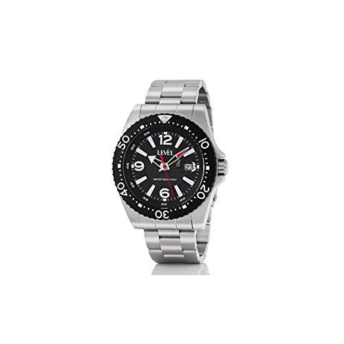 Reloj LEVEL A36718/1 - Reloj hombre WR 20 ATM deportivo con brazalete y caja de 45 mm en acero inoxidable.: Amazon.es: Relojes