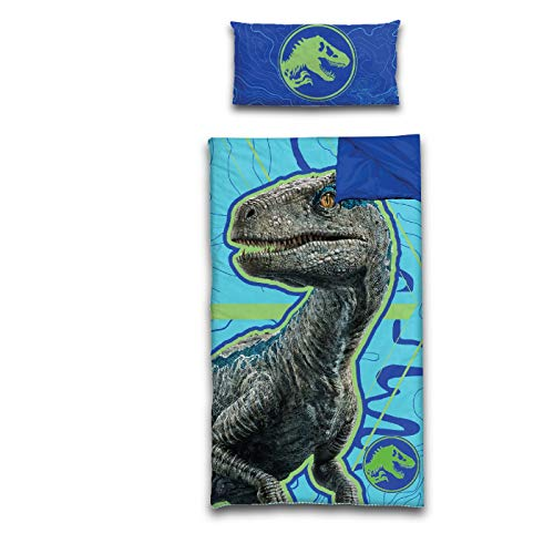 Jurassic World 2 Slumber Bag with Pillow, Blue ()