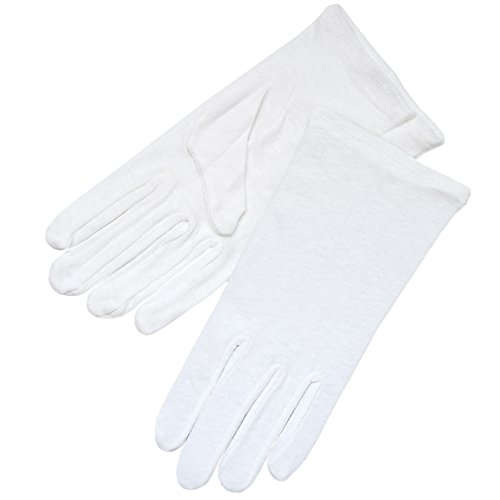 ZaZa Bridal White 100% Cotton Girl's Gloves Half Dozen(6 Pairs) Pack