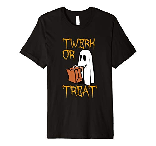 Mens Twerk or Treat Ghost Funny Halloween Treat Costume T Shirt -