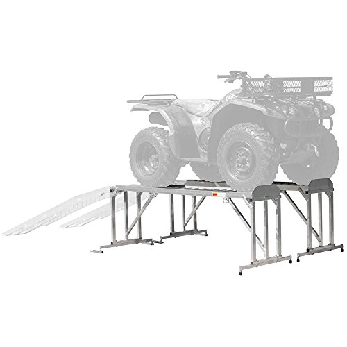 (ATV & Lawn Mower Display Stand and Work Station)