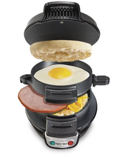 (Hamilton Beach 25477 Breakfast Electric Sandwich Maker, Black)