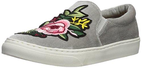 Soda If12 Femmes Fleur Motif Glisser Sur Élastique Rembourré Brassard Mode Sneaker Argent