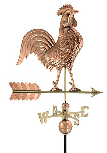 Good Directions Weathervane (Good Directions Large Rooster Weathervane, Pure Copper)
