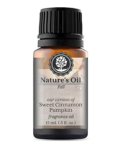 Sweet Cinnamon Pumpkin Fragrance Oil (15ml) For Diffusers, Soap Making, Candles, Lotion, Home Scents, Linen Spray, Bath Bombs, (Brown Sugar Scrub Cranberry)