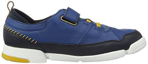 Clarks Tri Scotty Jnr, Zapatillas para Niños Azul (Blue Combi)