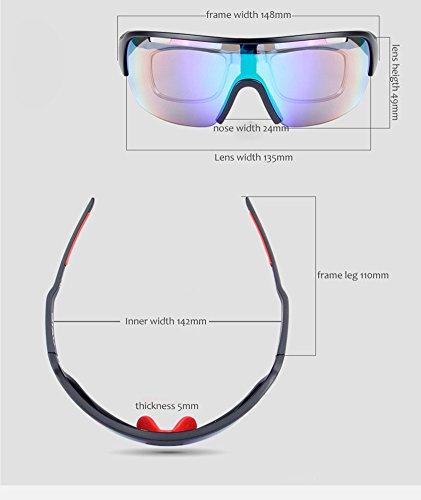 084b58b4ac Lorsoul Polarized Sports Sunglasses UV400 With 5 Interchangeable ...