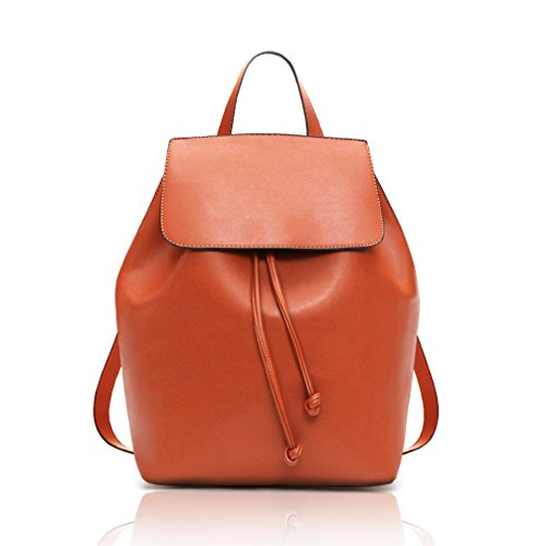 COCIFER Women's Leather Backpack Purse School Casual Daypack Top Tote Bags Brown