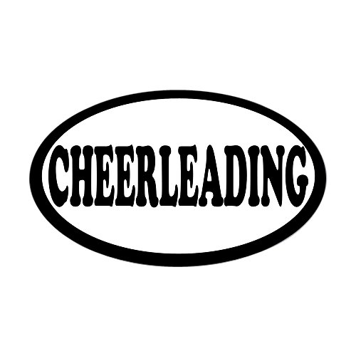 CafePress - Cheerleading Oval Sticker - Oval Bumper Sticker, Euro Oval Car Decal - Cheerleading Bumper Stickers
