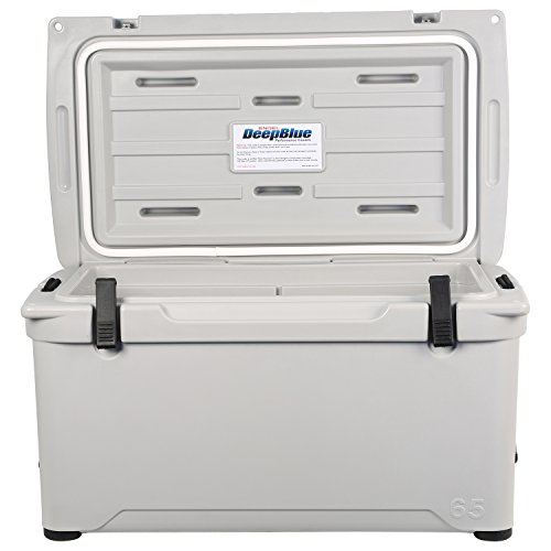 Engel 65 Deep Blue Hard Cooler - Haze Gray
