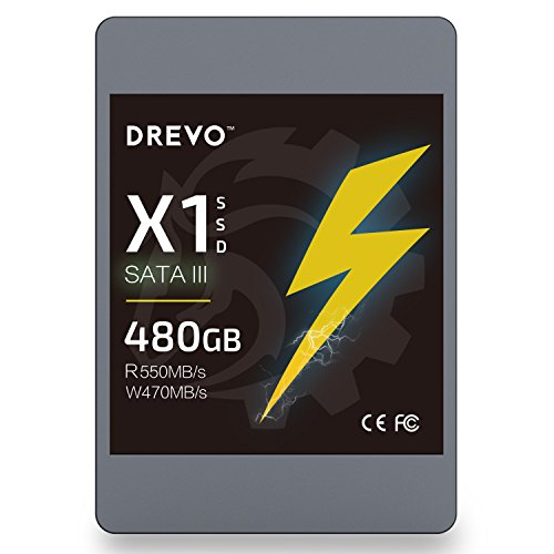 UPC 758330726656, DREVO X1 Series 480GB SSD 2.5-inch Solid State Drive SATA3 Read 550MB/S Write 470MB/S