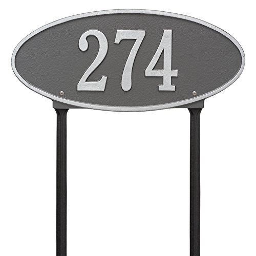 - Madison Standard Lawn Address Plaque Color: Pewter/Silver Letters