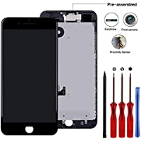 Compatible for 7 Plus Screen Replacement 5.5'' Black -...