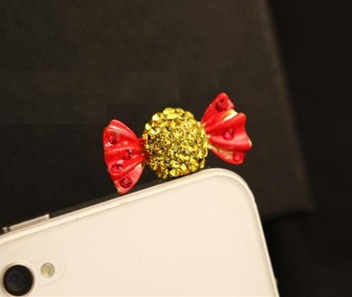 Green iPod Touch 5 4,Samsung Galaxy S3 S4 Note3 Note 2,HTC and Other 3.5mm Earphone Jack Phones iPad Mini iPad 2 Big Mango Cute Crystal Rhinestone Snail Anti Dust Plug Stopper // Ear Cap // Cellphone Charms for Apple iPhone 5 5c 5s iPhone 4 4s