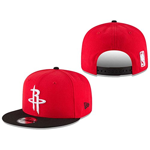 NBA Houston Rockets Adult Men NBA 9Fifty 2Tone Snapback Cap,Osfa,Red (Era New Hats Snapback)