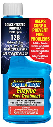 (Star Tron Enzyme Fuel Treatment - Concentrated Gas Formula 8 oz - Treats 128 Gallons)