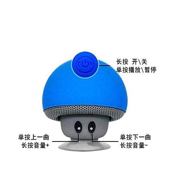 Haut-Parleur Portable Bluetooth étanche Voyage en Plein airBande dessinée Petit Champignon Bluetooth Haut-Parleur étanche Smart Petit Haut-Parleur Rouge 5.5cmx5.5cm 3