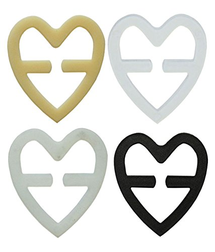 5starwarehouse® 4 x Bra Back Clip Strap Cleavage Breast Lift Bosom Enhancer Extender Maternity No Sewing - Choice of Style (4x Heart)
