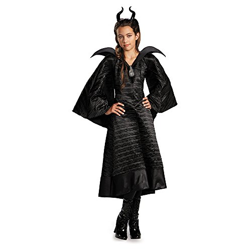 Disney Maleficent Movie Christening Black Gown Girls Deluxe Costume, (Best Movie Costumes)