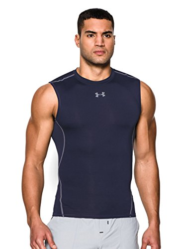 Under Armour Men's Heatgear Armour Sleeveless Tee 2-Pack Large Midnight Navy