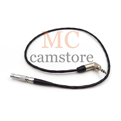 MCCAMSTORE 4 pin to 3.5mm TRS Timecode cable, for Easync sync time code Cable for RED Epic/SCARLET-W/RAVEN/WEAP/GEmini Timecode cable 20 inch