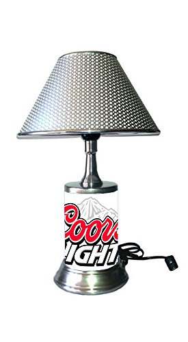 JS Coors Light Lamp with chrome shade, logo ()