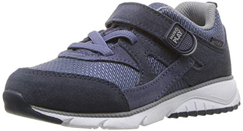 (Stride Rite Baby Ace Boy's and Girl's Premium Leather Sneaker, Navy 10 XW US)