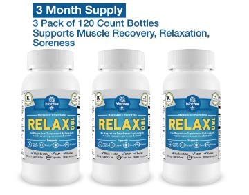 3 Pack of BioTree Labs Relax 180 – Magnesium and Potassium Supplement with Electrolytes That Supports Muscle Pain Spasms Tension & Stress Relief