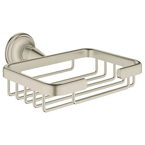 Infinity Brushed Nickel Finish - Grohe 40659EN1 Essentials Authentic Filing Basket in Brushed Nickel Infinity Finish, InfinityFinish