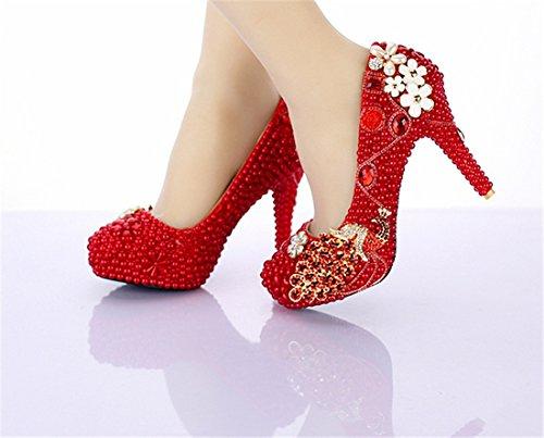 Miyoopark , Semelle compensée femme - Rouge - Red-14cm Heel, 35