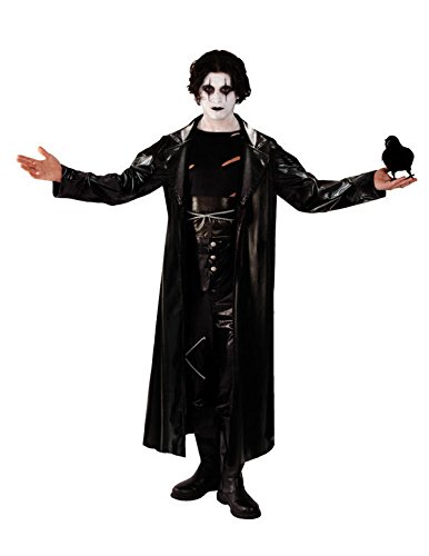 Cult Classic Movies Costumes (Orion Costumes Mens Gothic The Crow Movie Avenger Fancy Dress Black Extra Large)