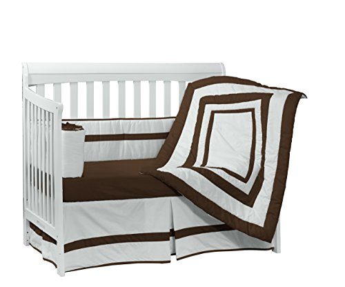 Baby Doll Bedding Modern Hotel Style Crib Bedding Set, Chocolate by BabyDoll Bedding