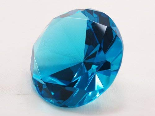 100mm Turquoise Crystal Diamond Jewel Paperweight 4 Inch Tripact