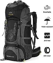 NACATIN Internal Frame 70L Backpack Water-Resistant Hiking Daypack Backpacks