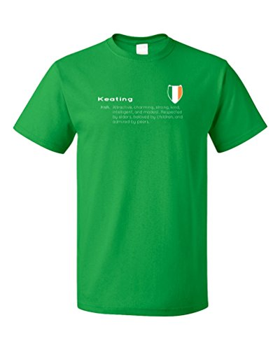 """Keating"" Definition | Funny Irish Last Name Unisex T-shirt"