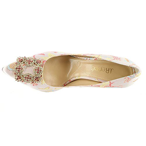 Renee Pastel Classic Womens Pumps Toe Multi Pointed Bilboa J Pink Fabric awPxg4qq