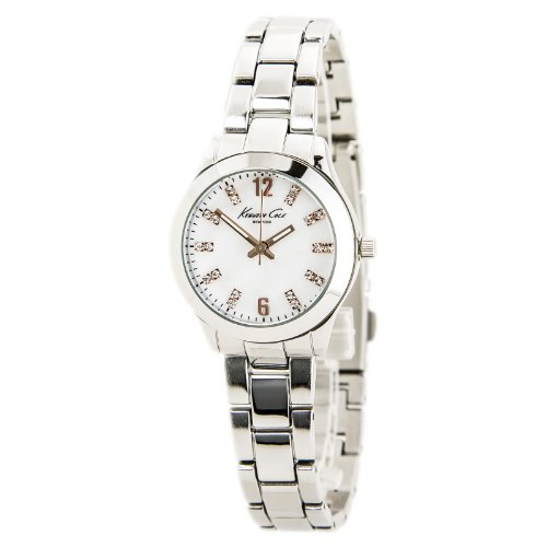 Stainless Steel Mop Watch - Kenneth Cole KCW4022 Women's Stainless Steel MOP Dial Watch