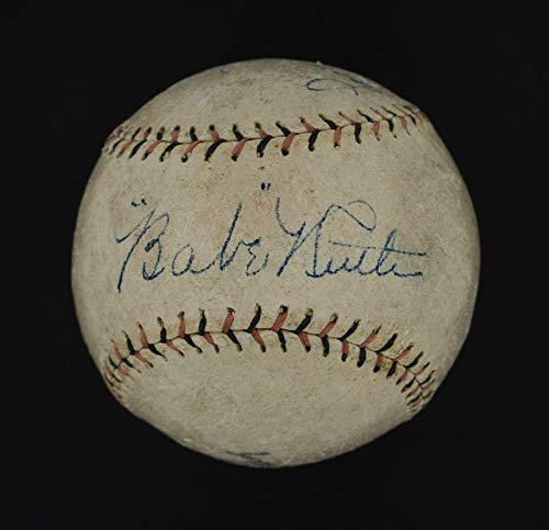 Lou Gehrig Autographed Baseball - Spectacular 1927 Babe Ruth & Lou Gehrig Dual Signed Baseball #AF01953 - PSA/DNA Certified - Autographed Baseballs