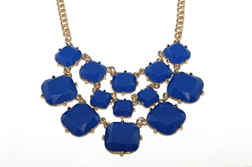 Lux Accessories Royal Blue Geo Stone Chain Link