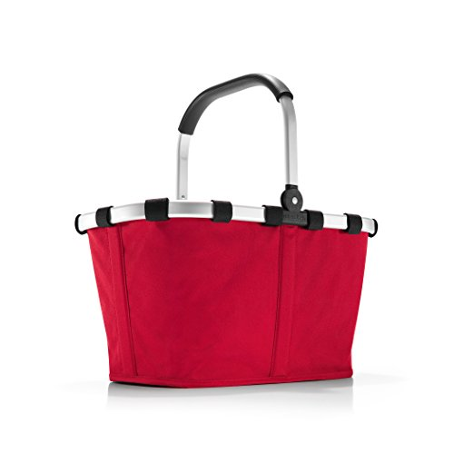 reisenthel Carrybag Fabric Picnic Tote, Sturdy Lightweight Basket for Shopping and Storage, Red