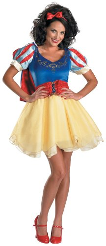 Sassy Snow White Costumes (Disguise Unisex Adult Sassy Prestige Snow White, Multi, Large (12-14) Costume)